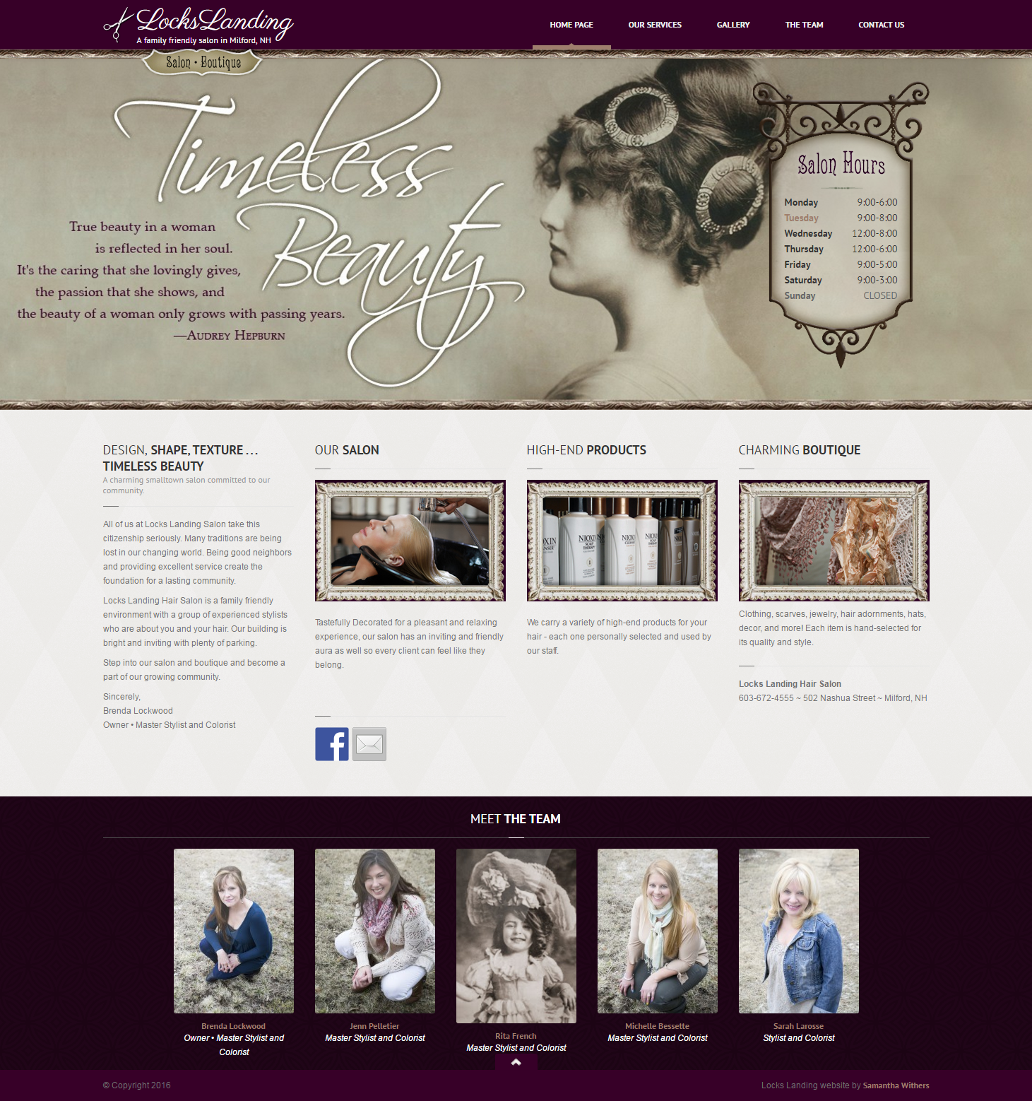 Locks Landing Hair Salon Website